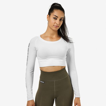 Better Bodies Crop-top Bowery White