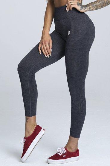 Gym Glamour Leggings Seamless Gray Melange