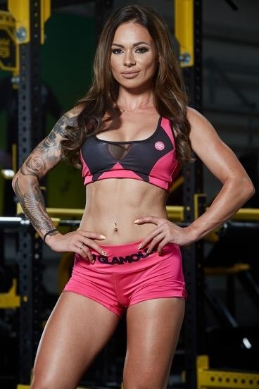 Gym Glamour Bra Pink Fluo