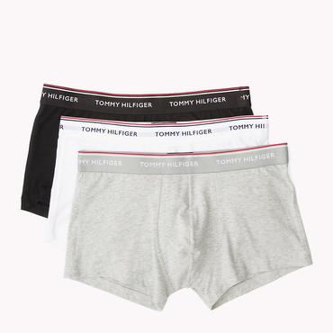 Tommy Hilfiger 3Pack Boxerky Black, Grey&White