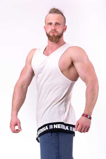 Nebbia Vest 141 Be Rebel Men Beige