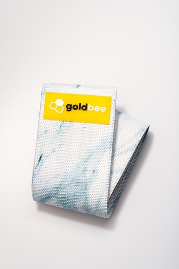 GoldBee Textile Band - Light Blue Marble