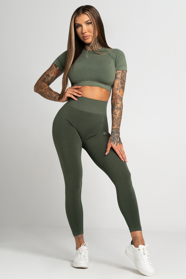 Gym Glamour Leggings Seamless Second Skin Khaki
