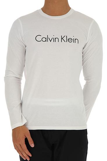 Calvin Klein Tričko S Dlouhým Rukávem Bílé