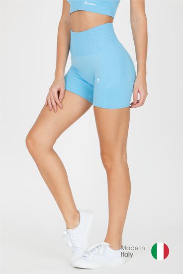 GoldBee BeSeamless Mini Shorts Ethereal Blue