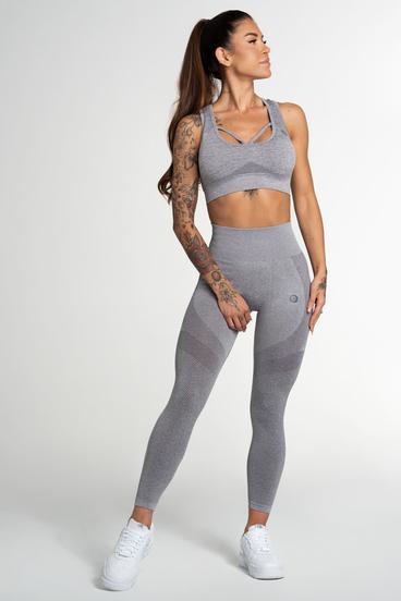 Gym Glamour Leggings Seamless Fusion Light Grey