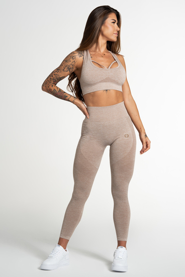 Gym Glamour Leggings Seamless Beige Fusion