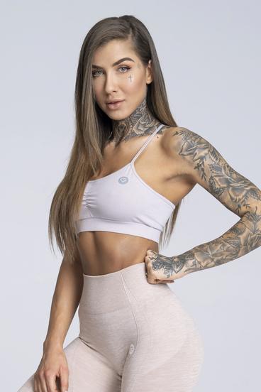 Gym Glamour Bra Simply Broken White