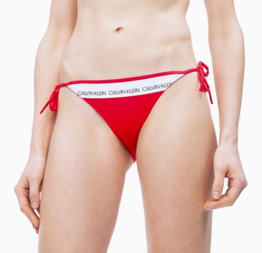 Calvin Klein Plavky CK Logo Red Spodní Díl