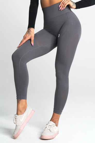 Gym Glamour Leggings Seamless Silvery