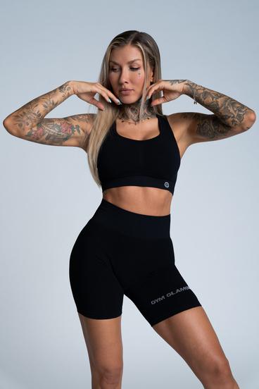 Gym Glamour Bra Push Up Deep Black