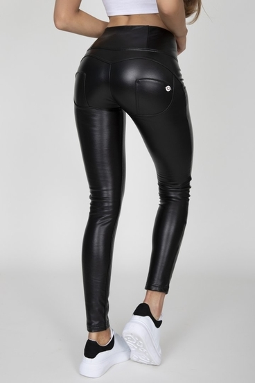 Hugz Black Faux Leather High Waist
