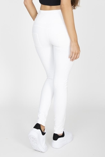 Hugz White Faux Leather High Waist