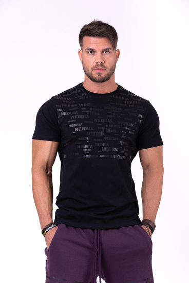 Nebbia T-Shirt 145 More Than Basic Men Black