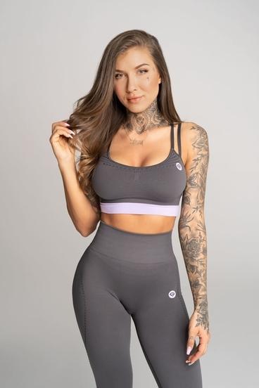 Gym Glamour Bra Deynn Grey