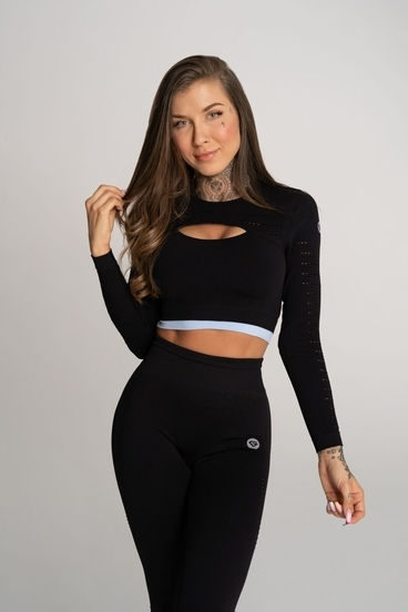 Gym Glamour Crop Top Deynn Black