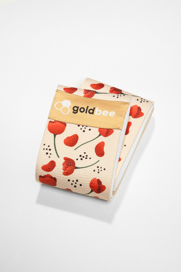 GoldBee Textile Band - Poppies