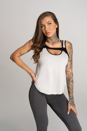 Gym Glamour Top Deynn Grey
