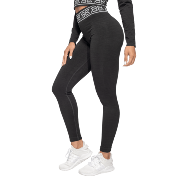 Better Bodies Leggings Rib Seamless Black Melange