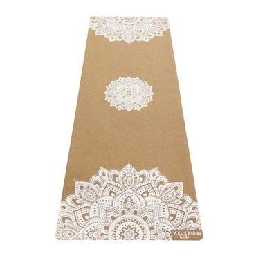 Yoga Design Lab 5.5mm Cork Yoga Mat - Mandala White