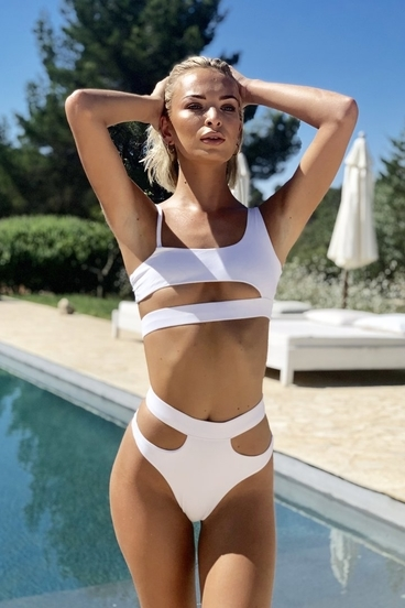 Hugz Plavky Malibu Cut Out Bikini White
