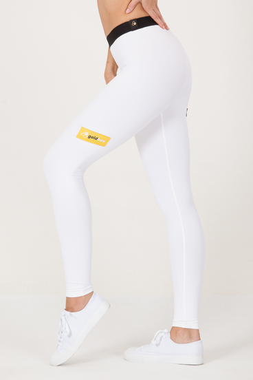 GoldBee Leggings BeSticker Outsite White