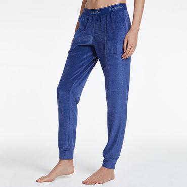 Calvin Klein Semišové Tepláky Modré