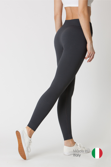 GoldBee Leggings BeSeamless Ribs Black Sand