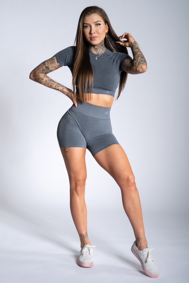 Gym Glamour Shorts Steel Grey Ombre