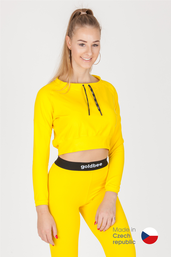 GoldBee CropTop BeCool Yellow - L, L - 1