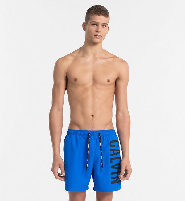 Calvin Klein Plavkové Šortky Intense Power Blue - L, L - 1