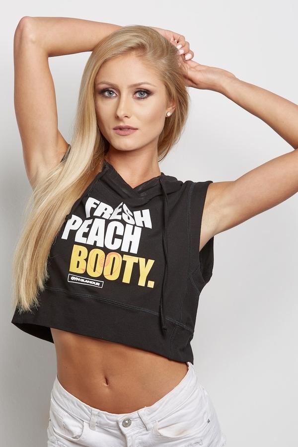 """Gym Glamour Mikina """" Fresh Peach Booty"""" Černá - XS, XS - 1"""