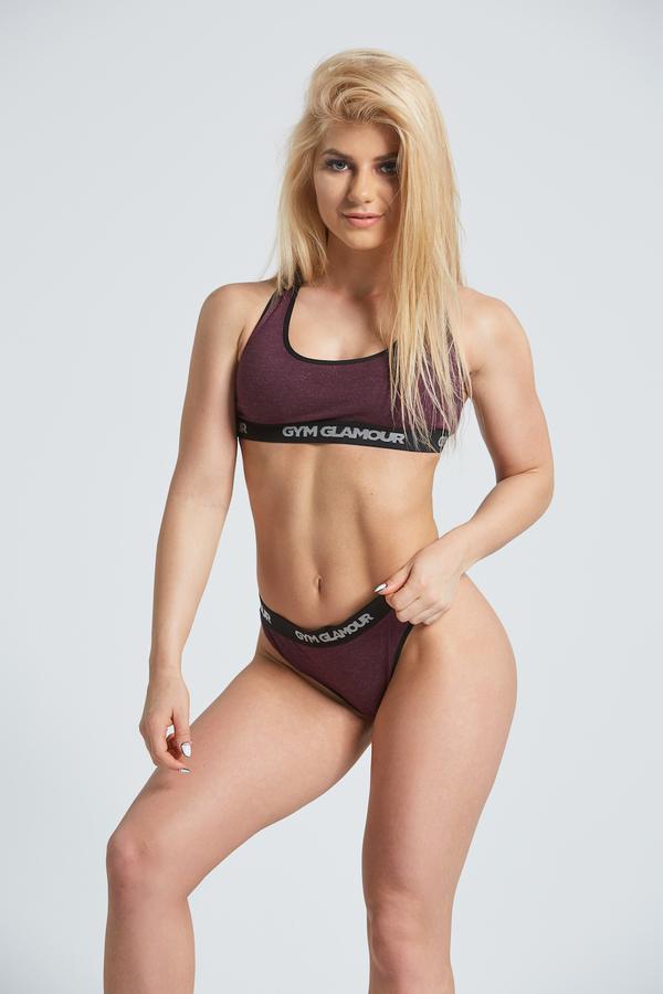 Gym Glamor Set Underwear Burgundy - 1
