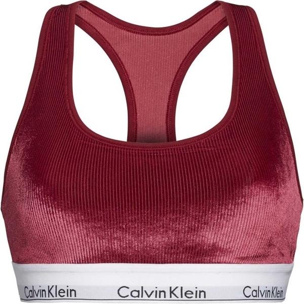 Calvin Klein Unlined Bralette Podprsenka Bordo - M, M