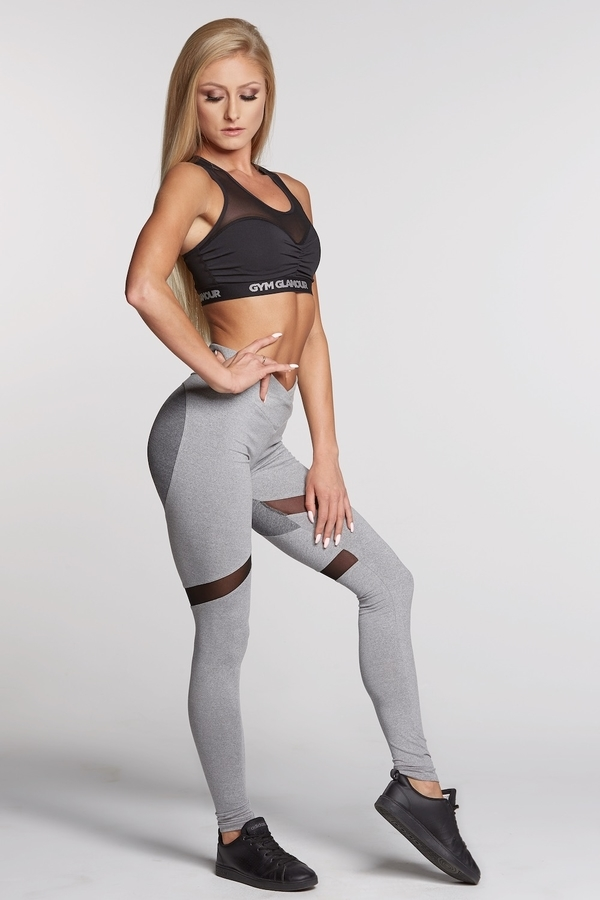 Gym Glamour Legíny Mixed Grey Heart - M, M - 1