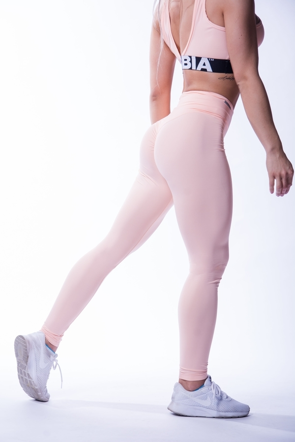 Nebbia 604 High Waist Scrunch Butt Legíny Lososové - 1