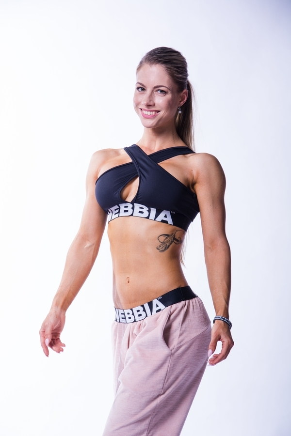 Nebbia 622 Crossed Sports Bra Černá - 1