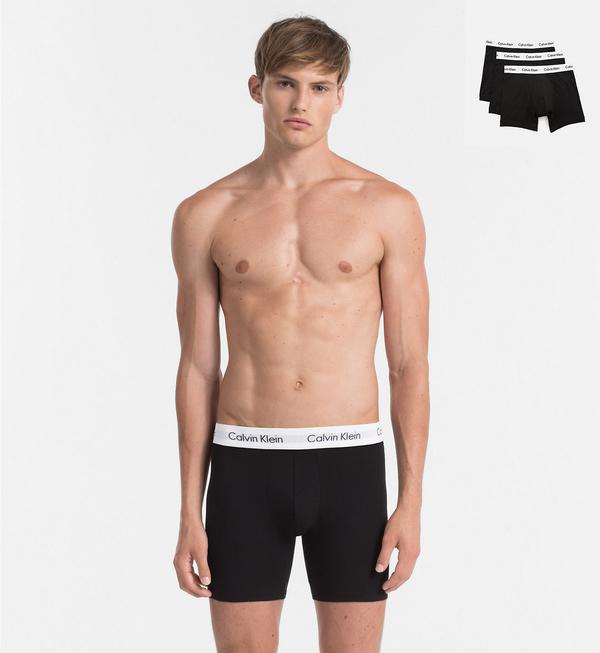 Calvin Klein 3Pack Boxerky Dlouhé Black - 1
