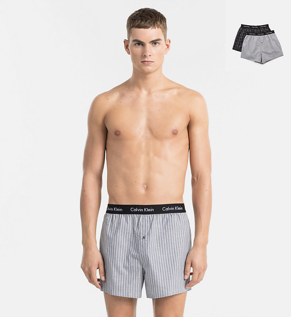 Calvin Klein 2Pack Trenky Černé Se Vzory - 1