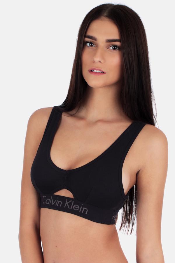 Calvin Klein Podprsenka Bralette Body Černá S Průřezem - S, S - 1