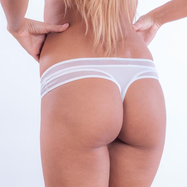 Calvin Klein Tanga Naked Touch Bílé - 1