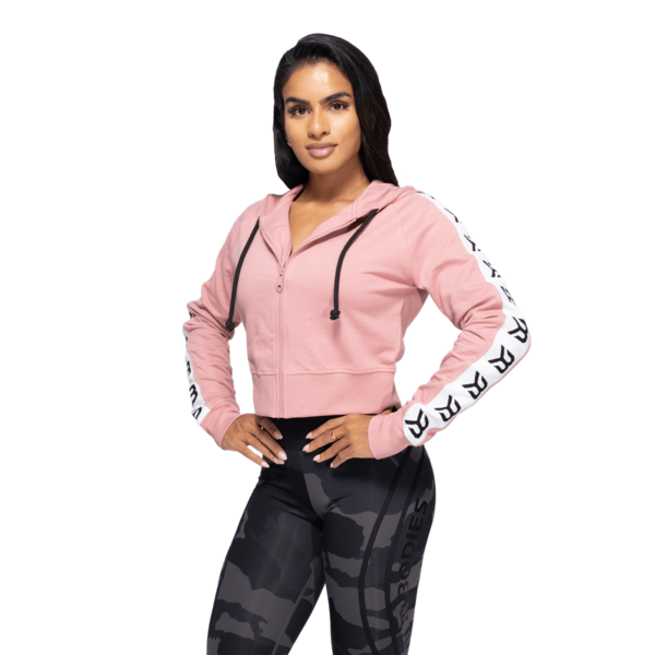 Better Bodies Cropped Hood Vesey Heather Pink - 1
