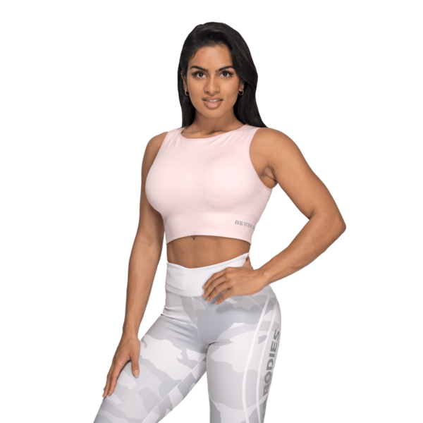Better Bodies Top Rib Seamless Pale Pink Melange - M, M - 1
