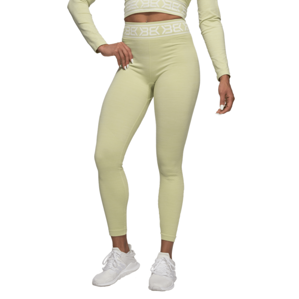 Better Bodies Legíny Rib Seamless Mellow Green Melange - S, S - 1