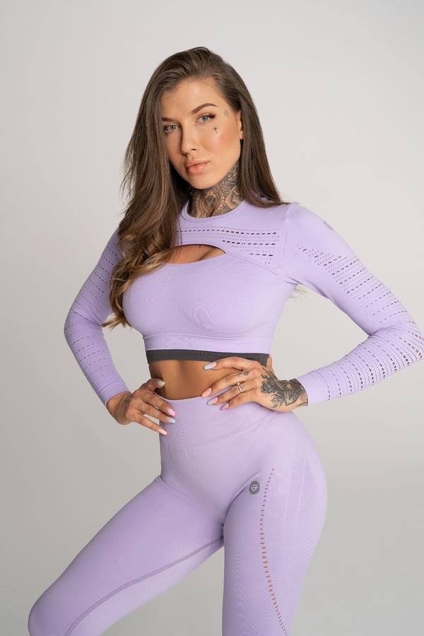 Gym Glamour Crop Top Deynn Lavender, M - 1