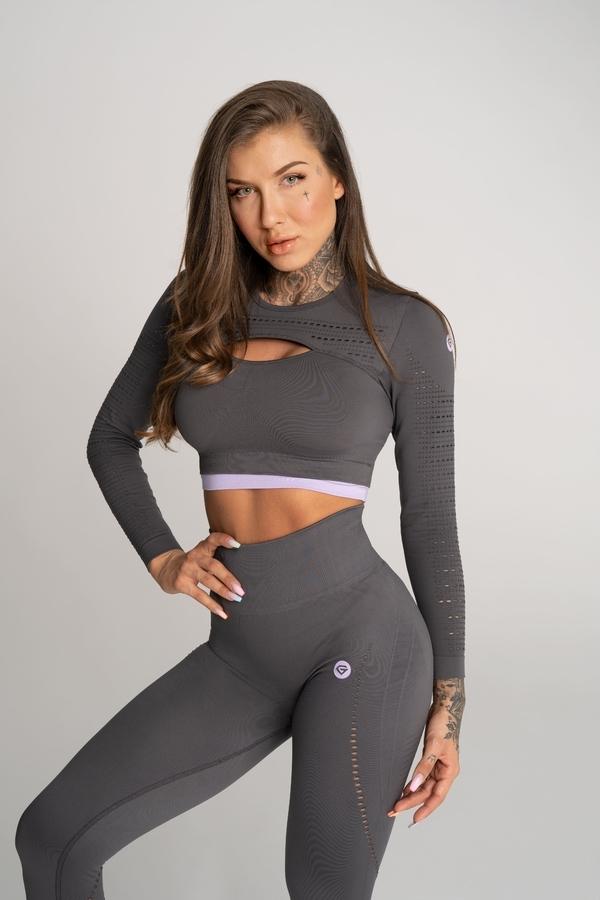 Gym Glamour Crop Top Deynn Grey, S - 1