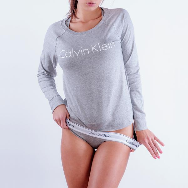 Calvin Klein Mikina Šedá S Nápisem - L, L - 1