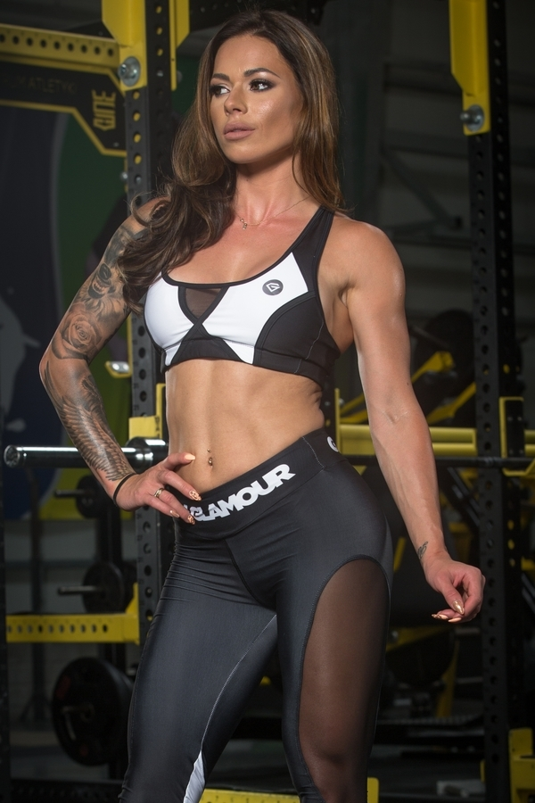 Gym Glamour Podprsenka Black&White - S, S - 1