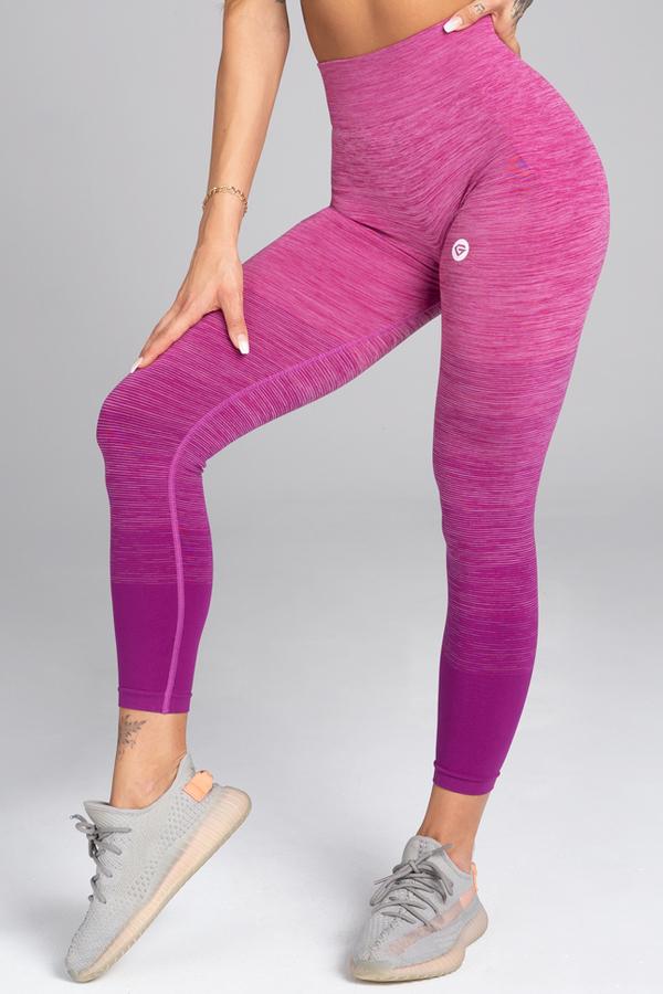 Gym Glamour Legíny Bezešvé Pink Ombré - M, M - 1