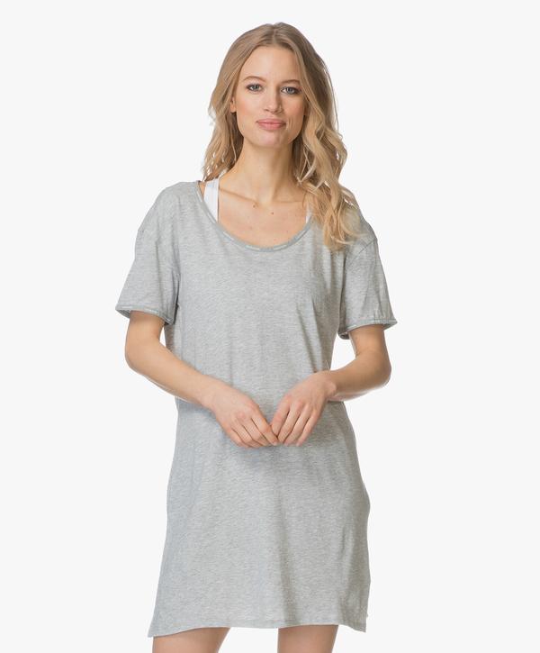 Calvin Klein Dámská Noční Basic Košilka Šedá - L, L - 1